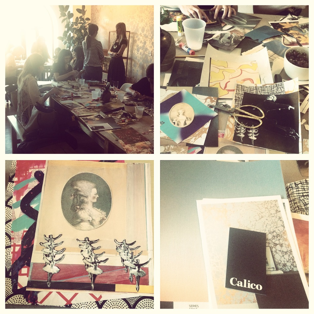 Caris Reid  collage studio hosted by  Calico Wallpaper