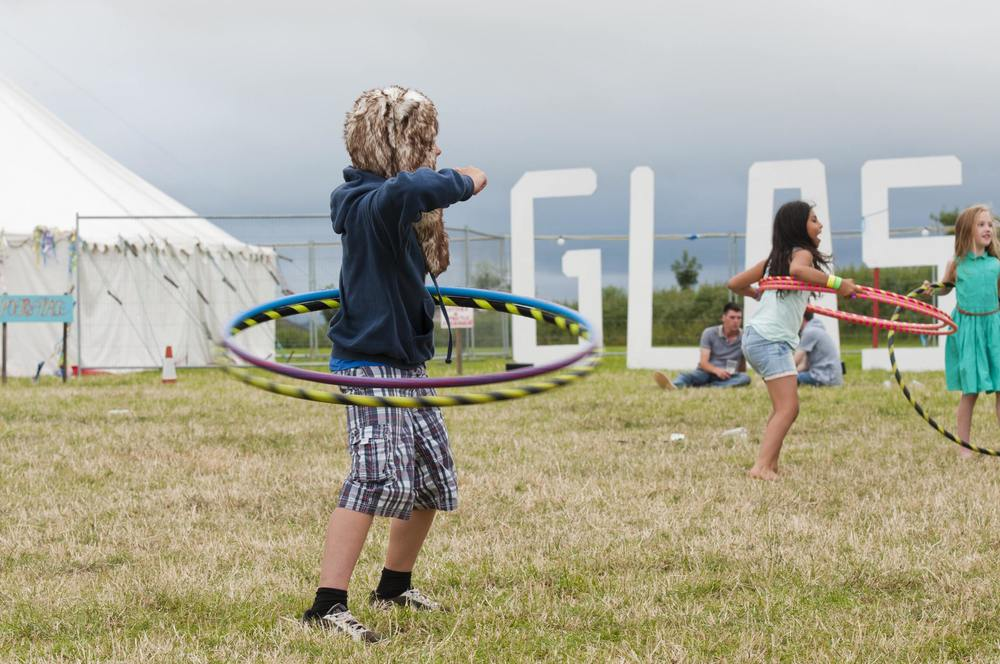 Kids Hula Hooping....