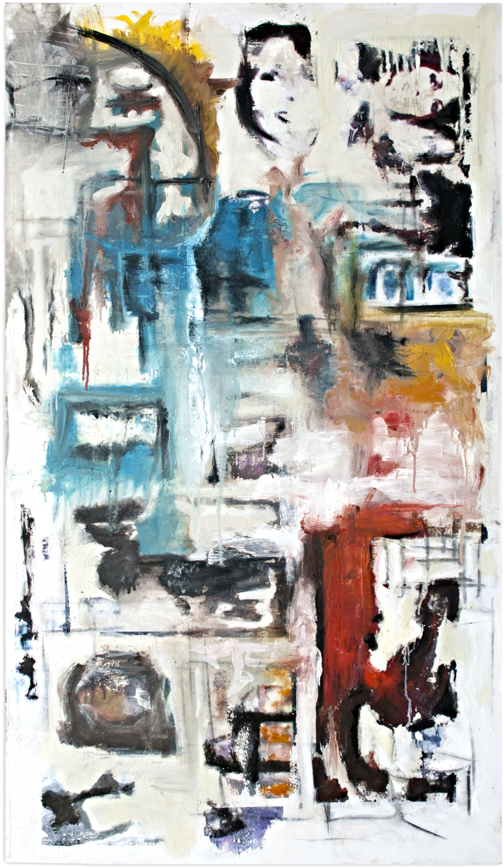 "C®oss-Eyed Mary, 2013  36"" x 48""  mixed-media on canvas"