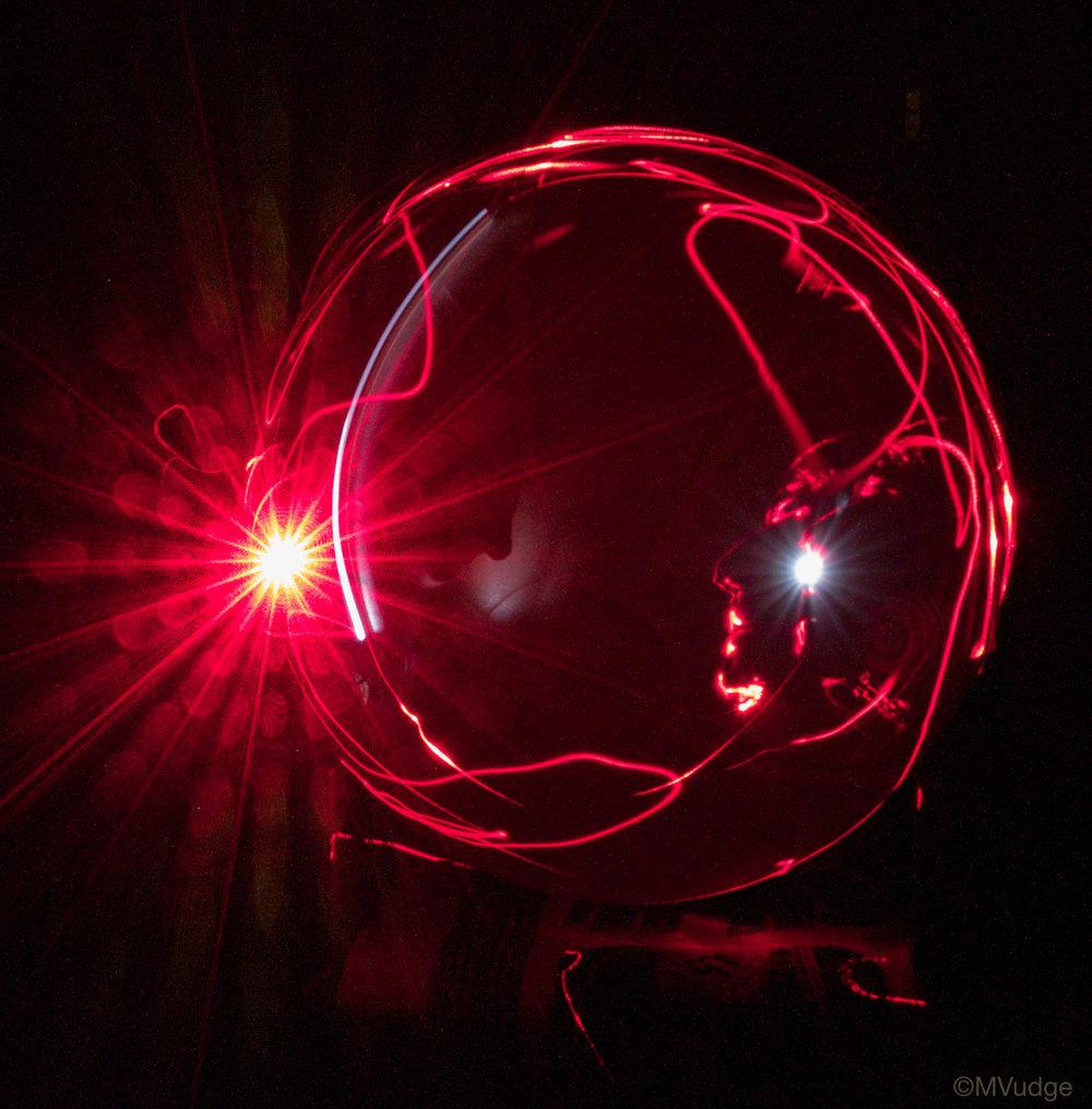Light Painting (long exposure photograph), self portrait taken during a lunar eclipse.