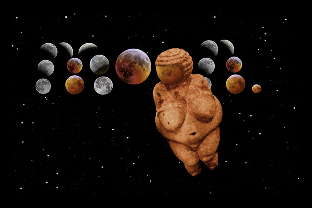 """Venus and Moon."" 2019  Digital photographs"