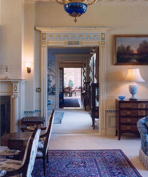 Ornate doorways of Packard Manor