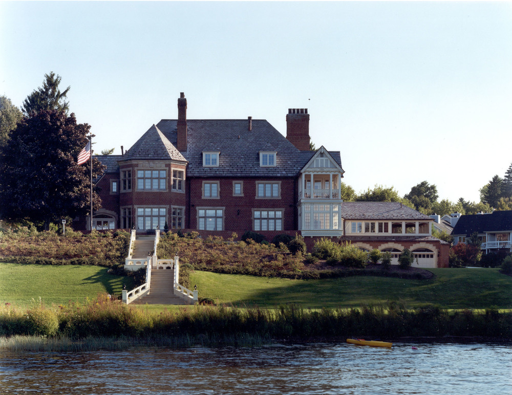 View of historic Packard Manor from Lake Chautauqua