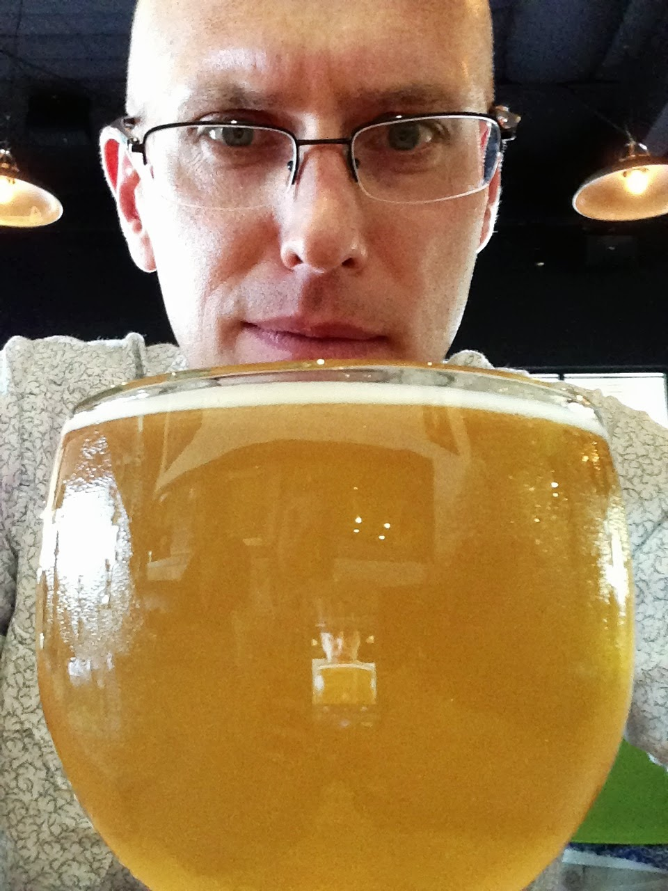 Locapour creator and producer  Mike Langford  enjoying a  (512) Wit  at  Hopdoddy in Austin, TX .