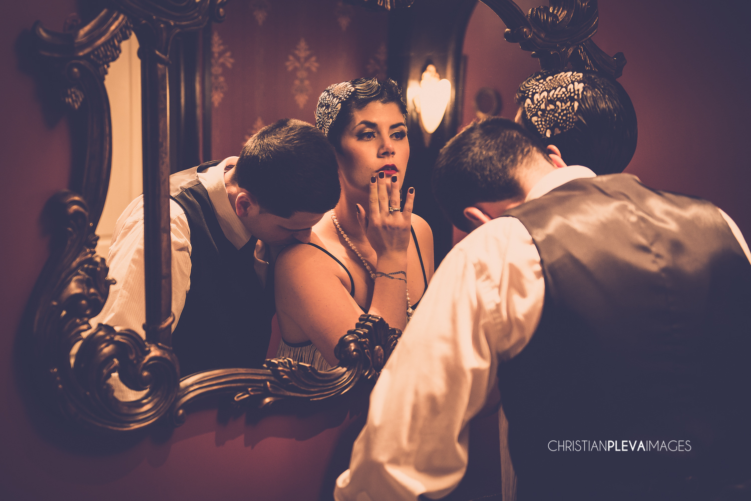 Gatsby Themed Engagement Shoot At Carrie Nation In Boston