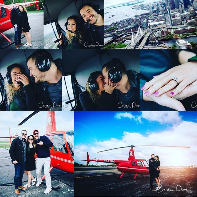 I had an incredible opportunity to be a part of an amazing aerial proposal and here a a few of the shots!  #engagementring #engagementphotos #proposal #bostonhelicopters #bostonengagement #engaged #wedding #bostonengagementphotographer @bostonhelicopters