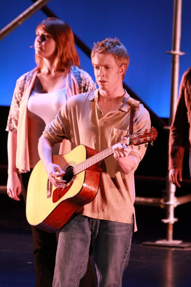 "Performing ""Falling Slowly"" from  Once  at the Alliance Theatre in Atlanta, GA with the Broadway Dreams interns."