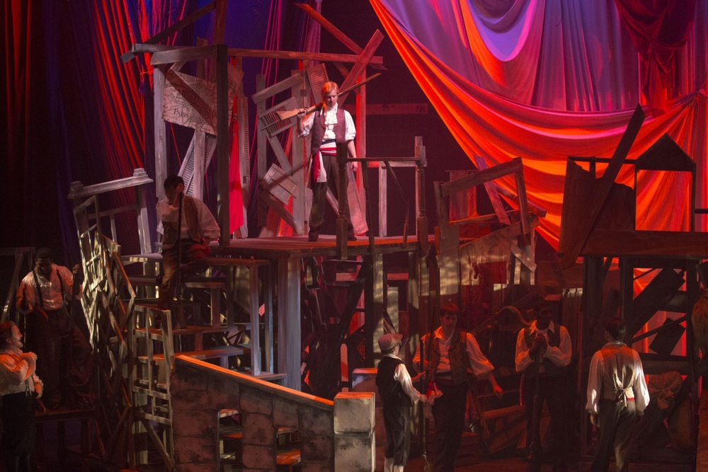 Dress rehearsal for the Atlanta regional premiere of  Les Miserables  at the Aurora Theatre.