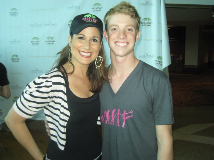 With actress Stephanie J. Block after our show at the Cobb Energy Center in Atlanta, GA.