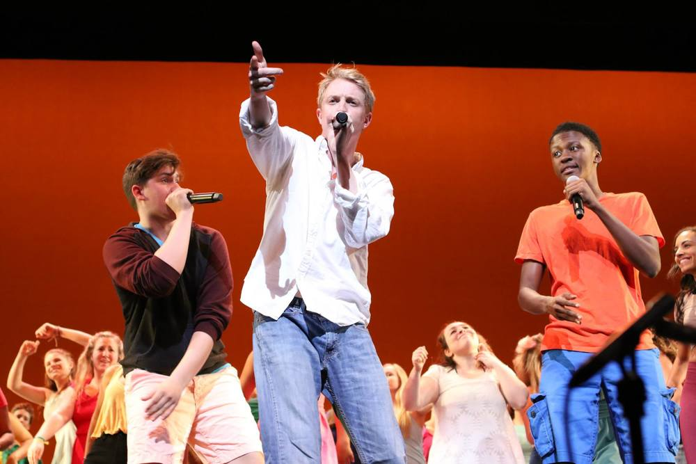 Ben in a Broadway Dreams show at the Kimmel Center in PA.  Photo: Vii Tanner
