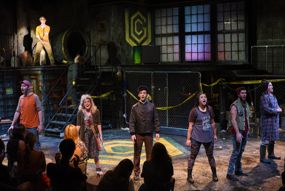 Urinetown  at The Warehouse Theatre.  Photo: Wallace Krebs