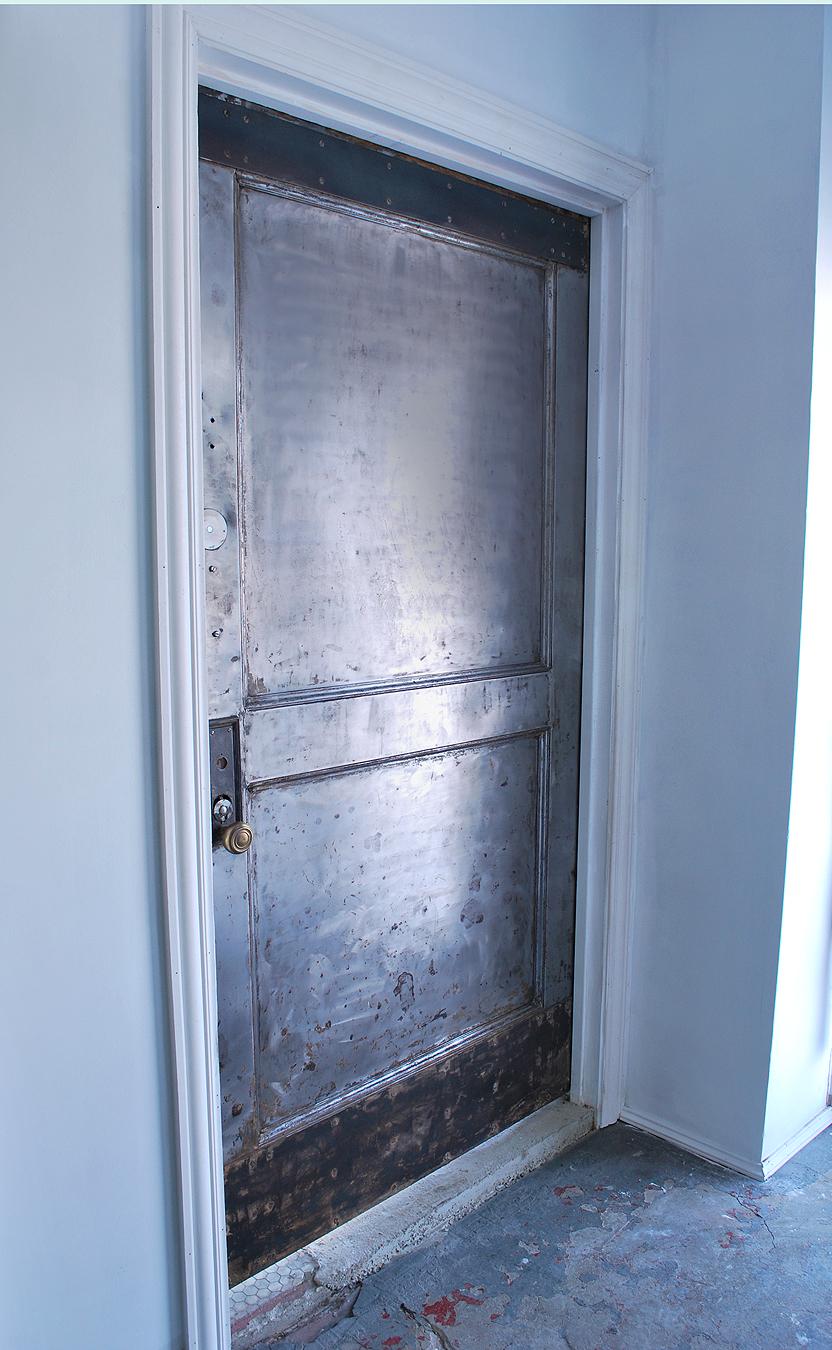 1930u0027s Two Panel Steel Fire Door
