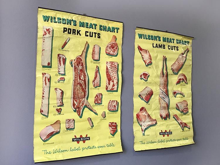 1940s Butcher Chart Lamb Cuts