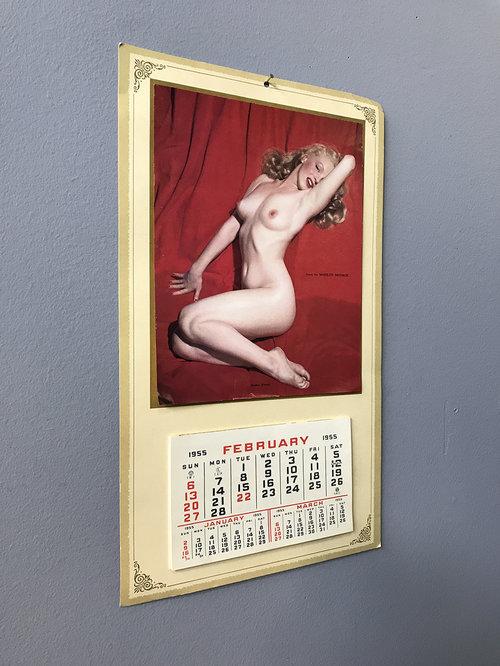 Original 1955 Marilyn Monroe Calendar Agent Gallery Chicago