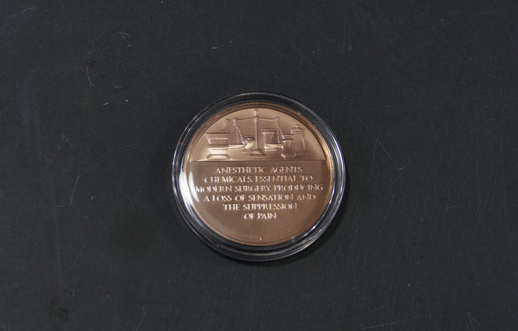 commemorative anesthesia bronze coin agent gallery chicago