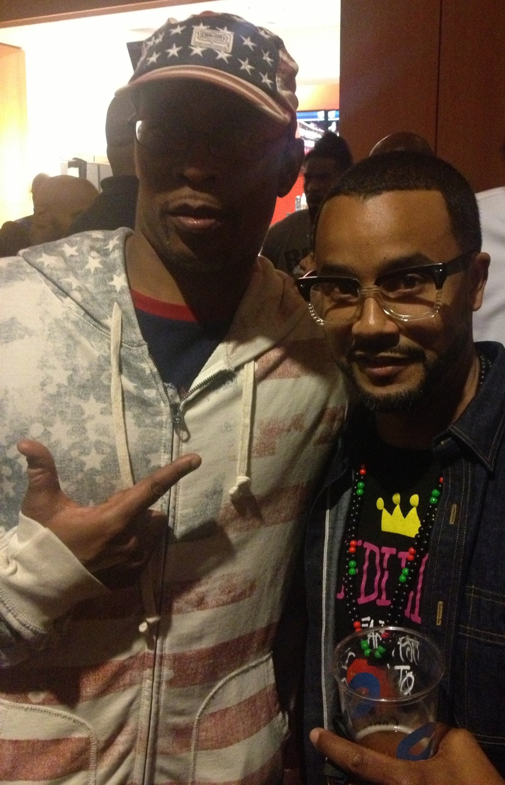 Sadat X from Brand Nubian with Sean Armstrong