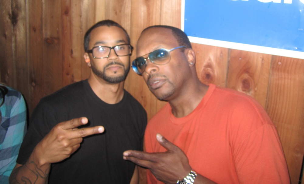 "Sean Armstrong and The Legendary DJ Jazzy Jeff at the ""Do Over"" party in LA."