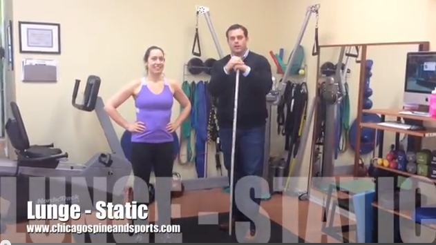 Video #3 - Static Lunge