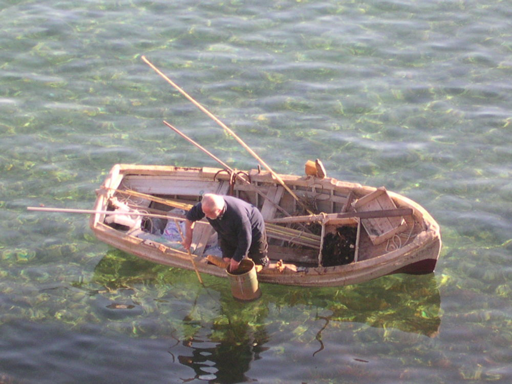 Bottom fishing Chania harbour Crete.JPG