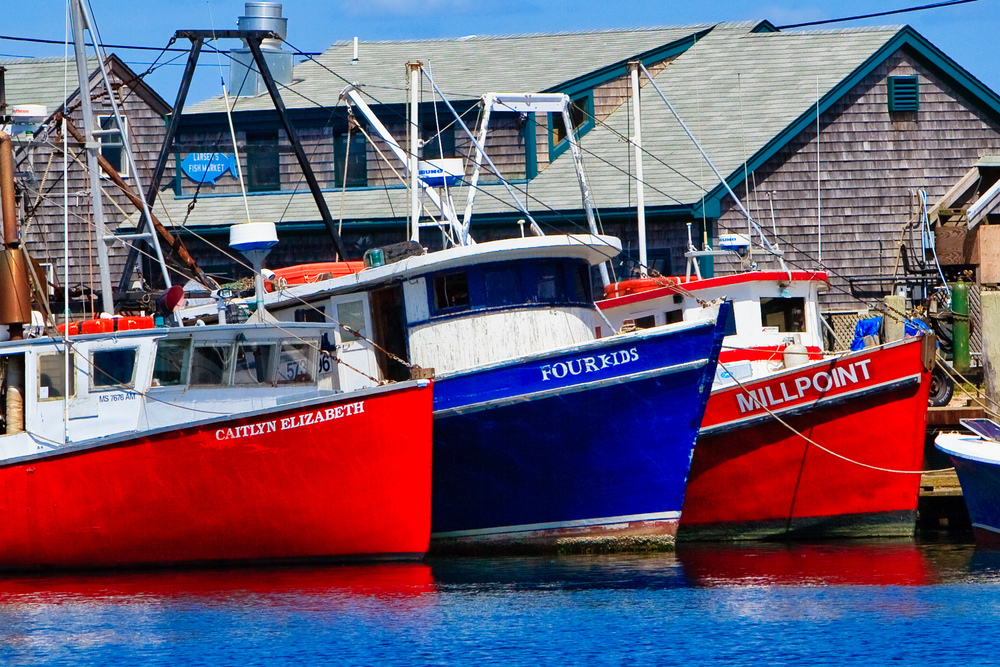 Lobster Boats, Menemsha Fishing Village, MA