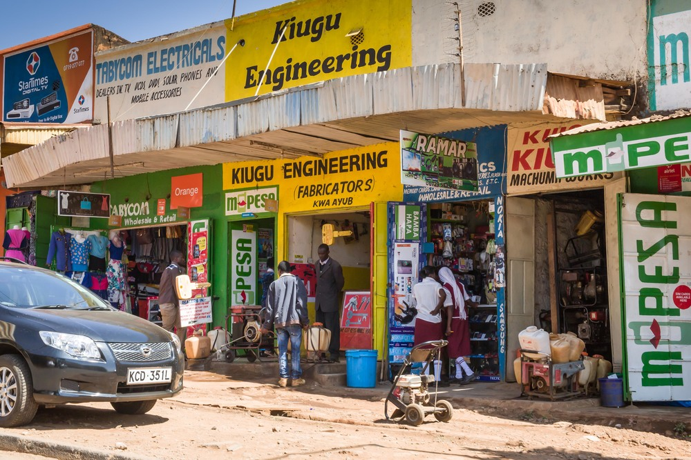 Typical Street of Shops, Meru, Kenya