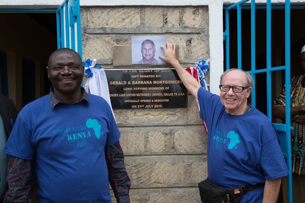 Dedication of New Donated Lavatory