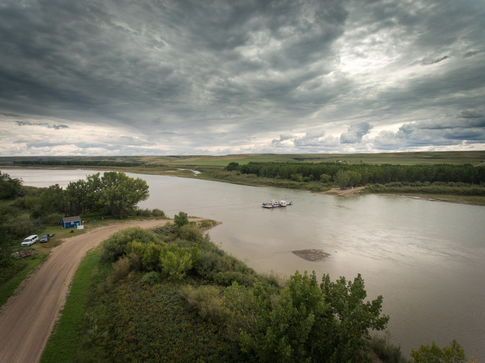 Ferry across the South Saskatchewan River