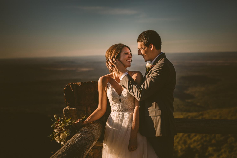 mountain side elopement in paris ar destination wedding