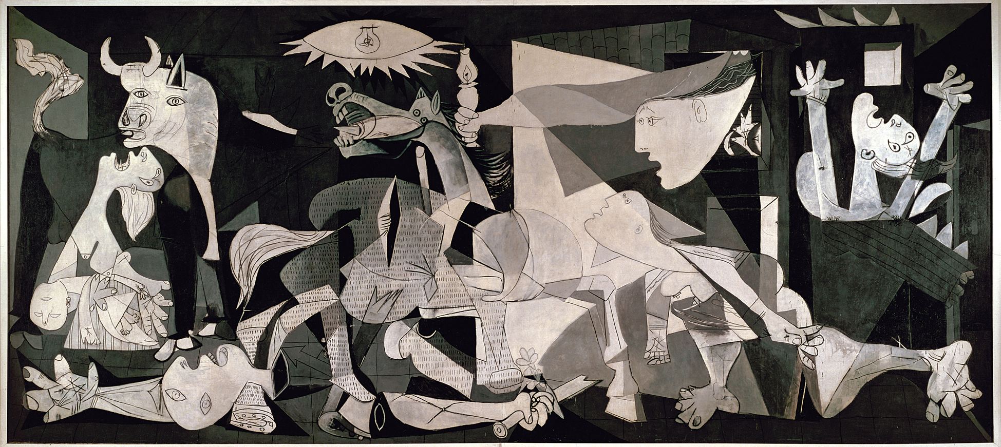 Pablo Picasso, Guernica. Paris, June 4, 1937. Oil on canvas, 349.3 x 776.6 cm