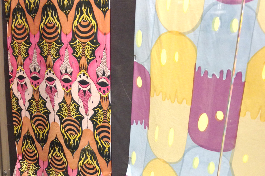 Screenprinted fabrics at Stamps School of Art & Design