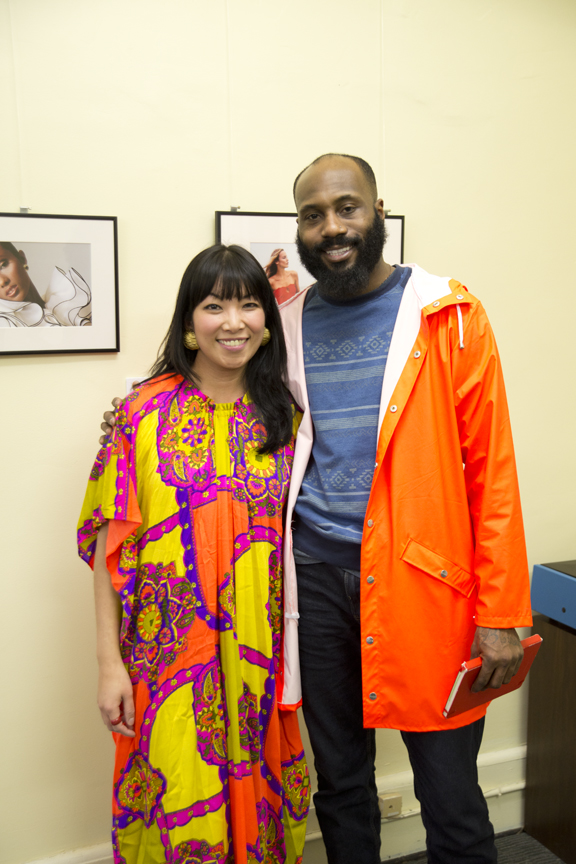 Yen with community advocate and activist, D'Real Graham.