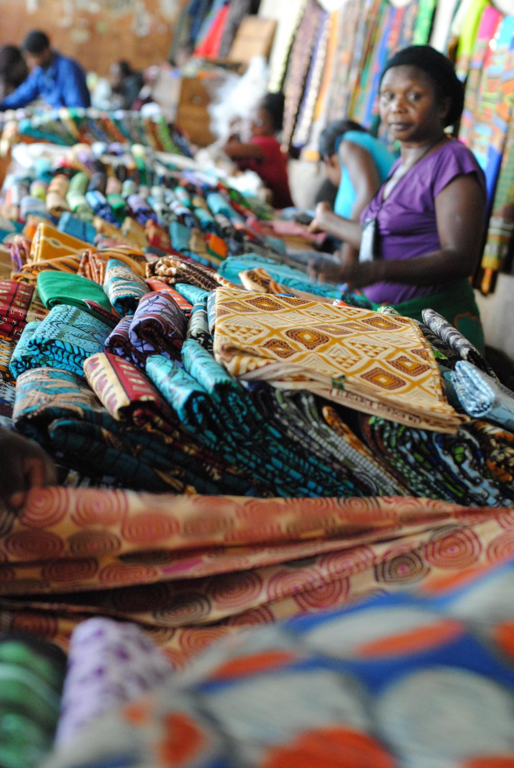 Chitenji vendor in Lilongwe's Old Market