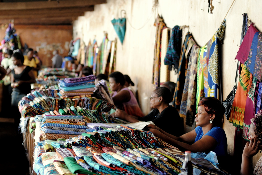 The main Chitenji section of the old market in Lilongwe, Malawi's Capitol, is where we purchase most of the raw material with which we make our items.