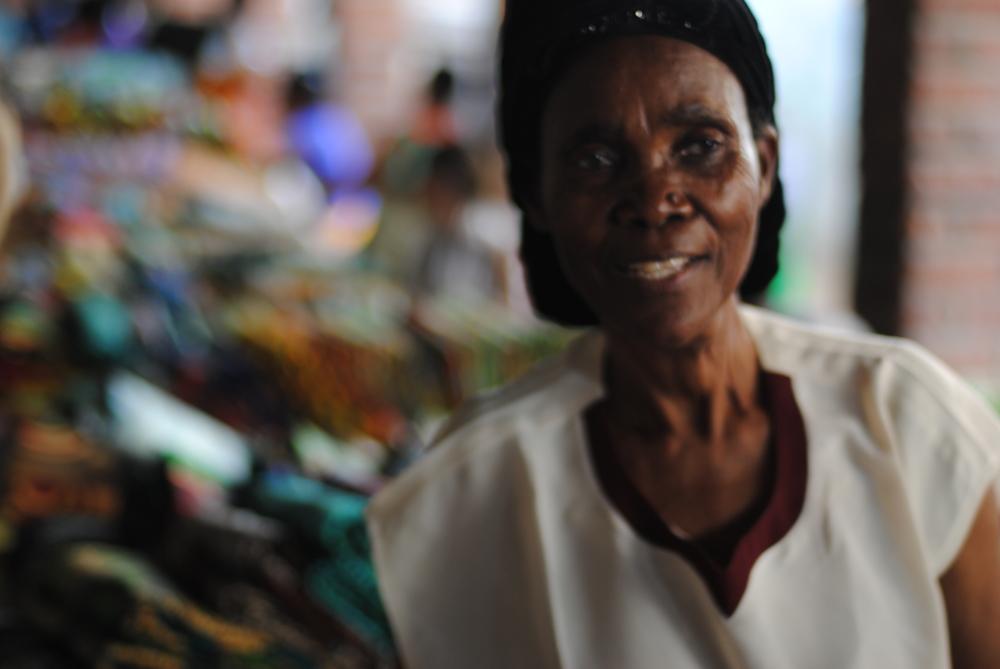 Old market vendor.