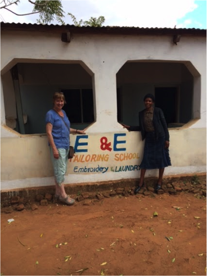 Eileen, Eliza, and Eliza's new shop E&E Tailoring School. In addition to being a shop that makes and sells garments, Eliza's business also seeks to teach other women how to sew commercially.