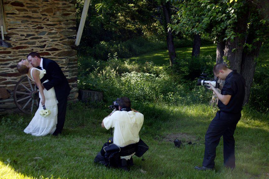 Steve at Work Shooting Bride and Groom