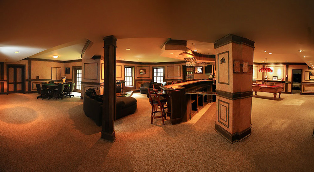 Interior Real Estate Photo Panoramic Basement