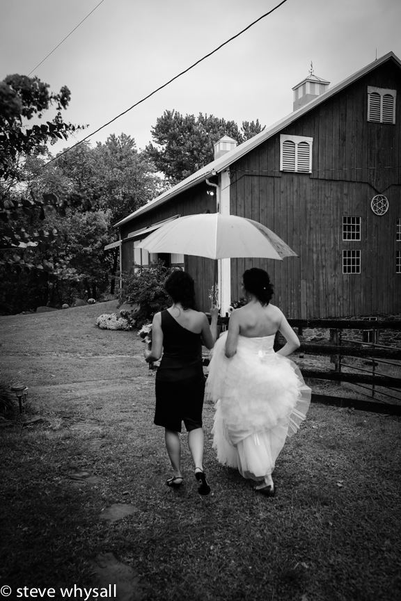 Weather Lea Farm Bride Walking