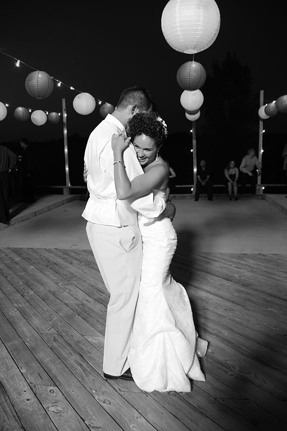 Virginia Farm Wedding Reception Photo Bride and Groom Dancing