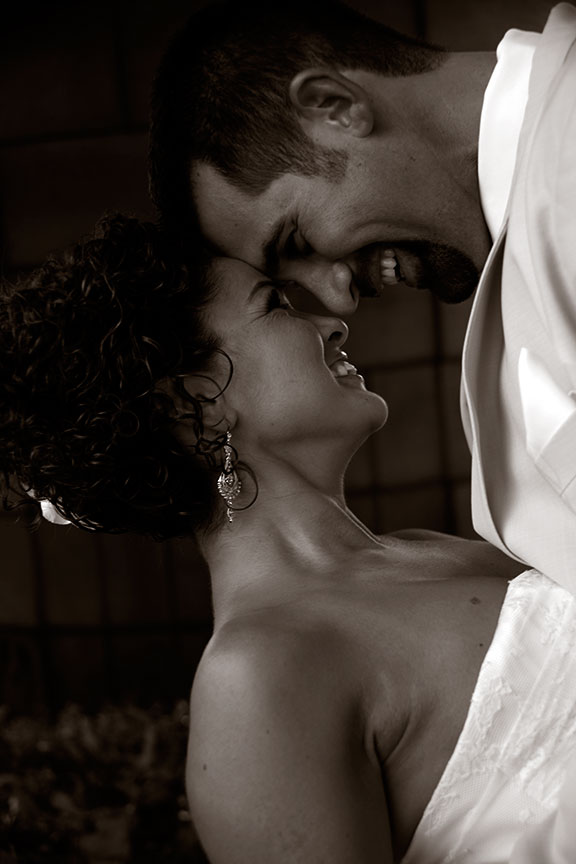 Virginia Farm Wedding Bride and Groom Close Up Black and White Photo