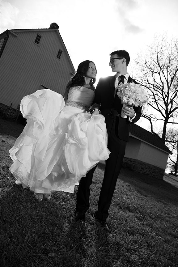 Stone Manor Country Club Bride and Groom Black and White Photo