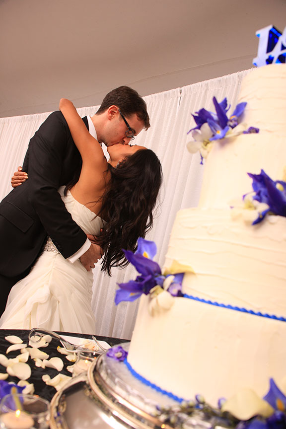 Stone Manor Country Club Cutting Cake Wedding Reception Photo