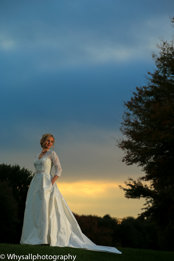 bridal portrait color the woodlands
