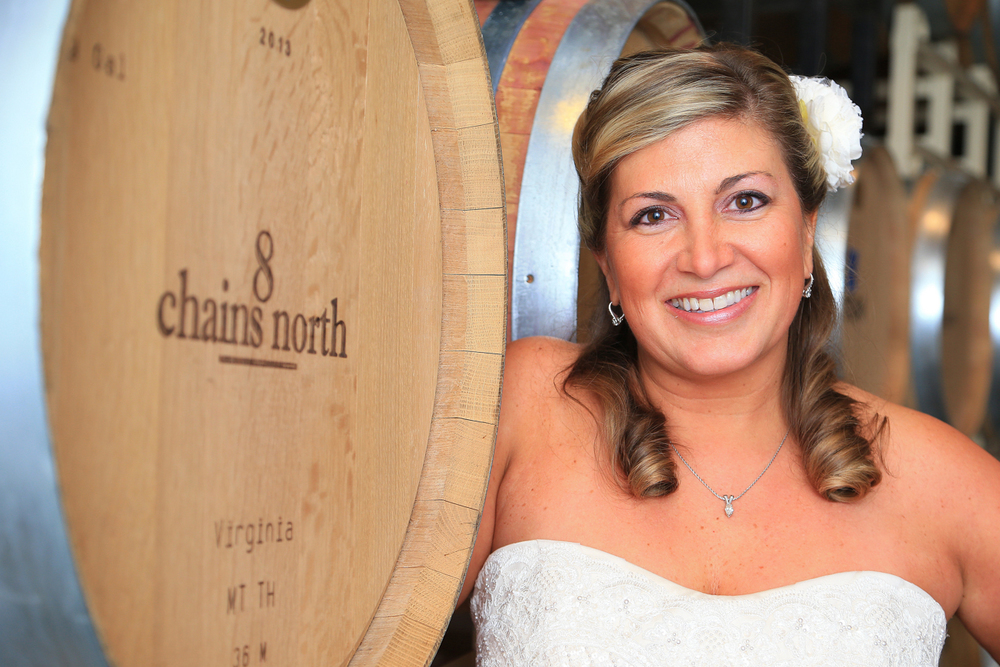 Bridal Portrait in Wine Cellar 8 Chains North Winery