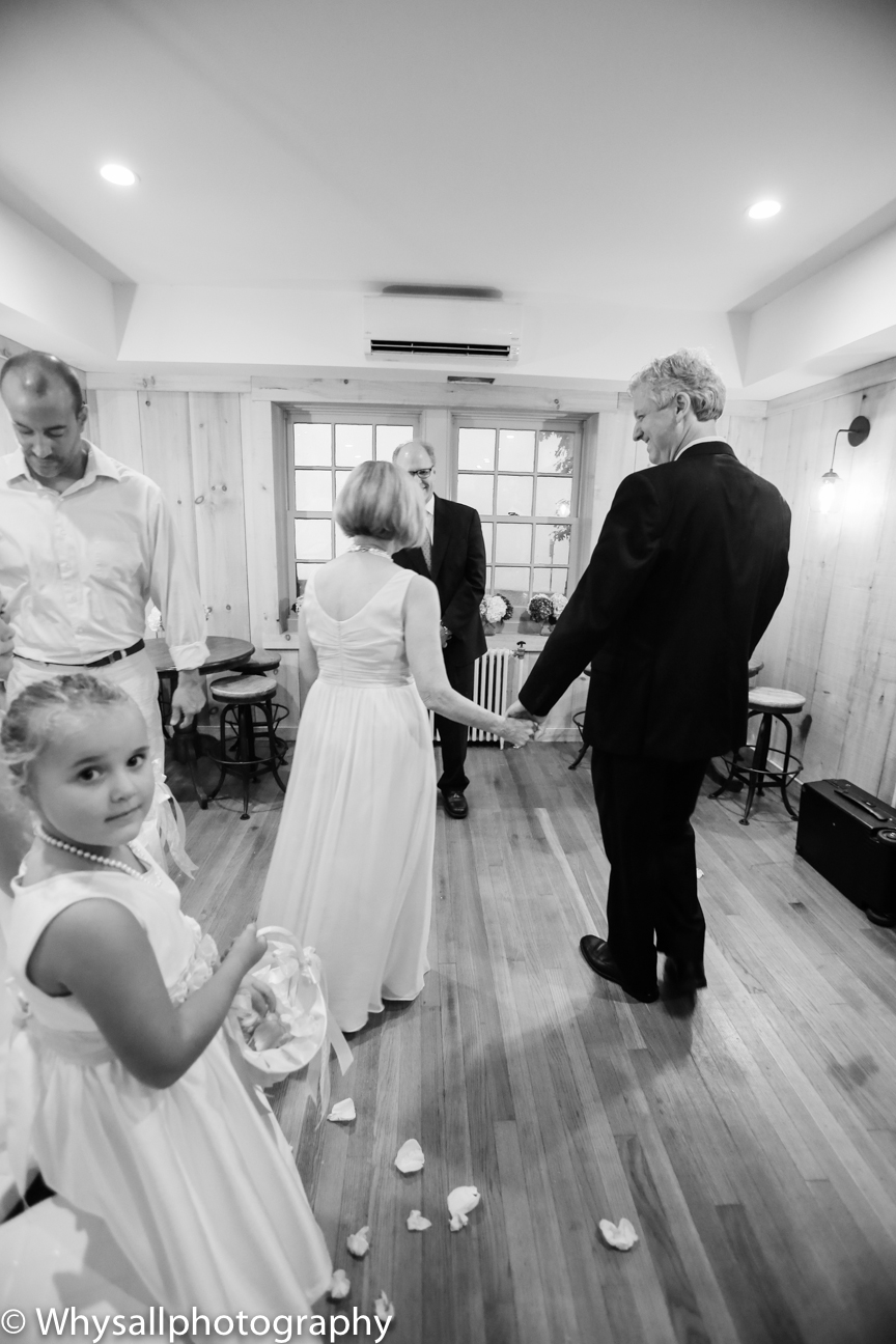 Wedding Ceremony Photo Bluemont Brewery