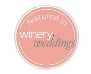 Featured in winery weddings magazine badge