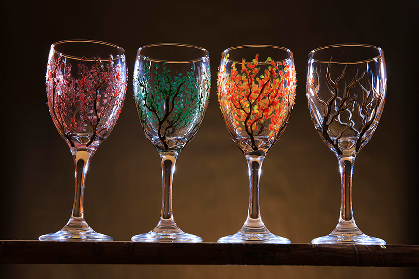Product Photos Wine Glasses Painted