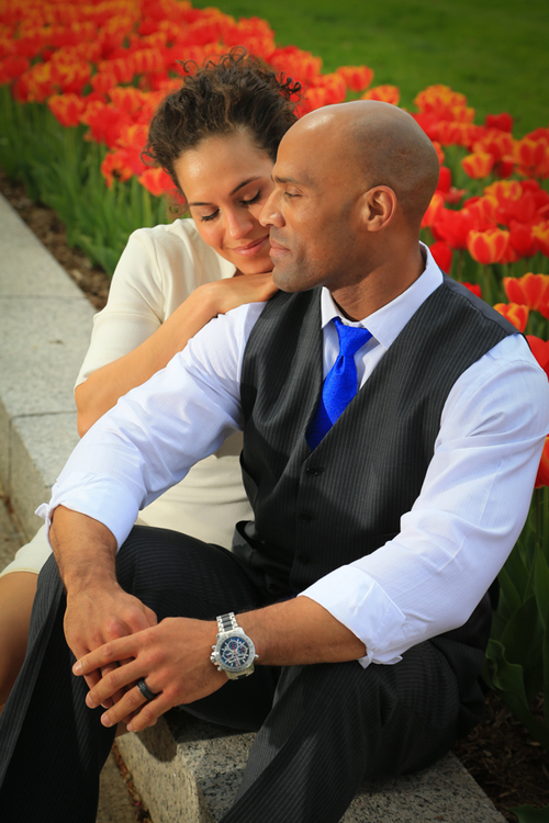 Engagement Photo Tulips in DC