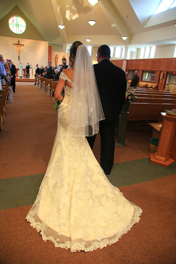 Chesapeake City MD Wedding Ceremony Father Walking The Bride | Frederick Maryland Wedding Photographer