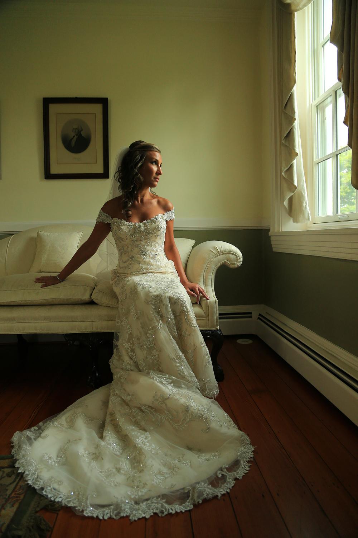Bridal Portrait With Window Chesapeake City MD | Frederick Maryland Wedding Photographer